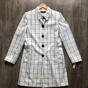 Alex Marie Windowpane Checkered Coat
